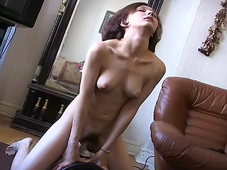 Lonely Russian Teen Plays with Fucking Machine to Bring Her Hairy Pussy some Pleasure