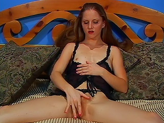 Skinny Redhead Amateur with Small Boobs and Huge Hairy Bush Gives a Deepthroat Blowjob and Before a Good Fuck