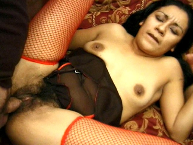 Cum Thirsty Latina Likes When Her Hairy