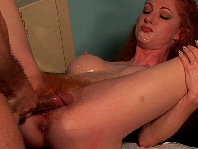a Secretary's Hairy Pussy being Fucked