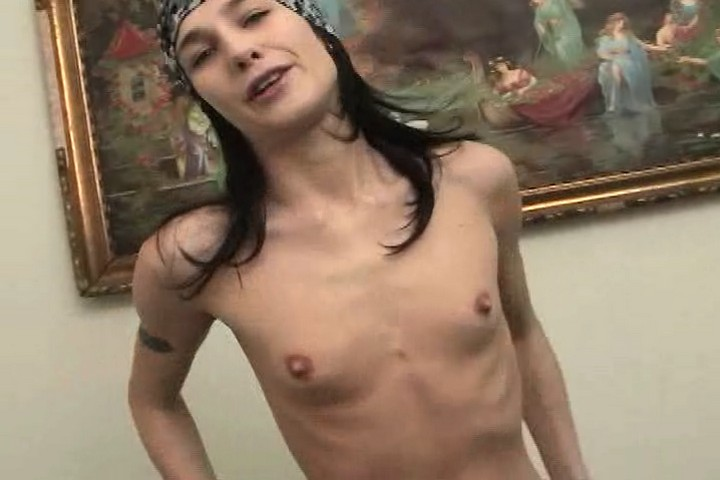 Skinny and Hairy Babe From Moscow Lying