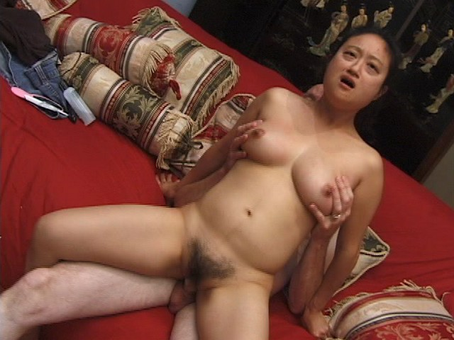 Oriental Amateur with a Hairy Pussy is being
