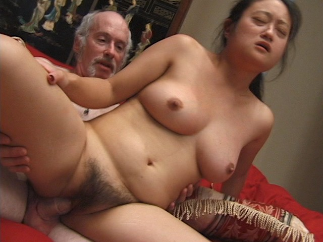 Asian Amateur with a Very Big Bush is being