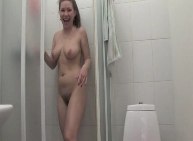 Slavic Babe with Huge Tits and Hairy Cunt