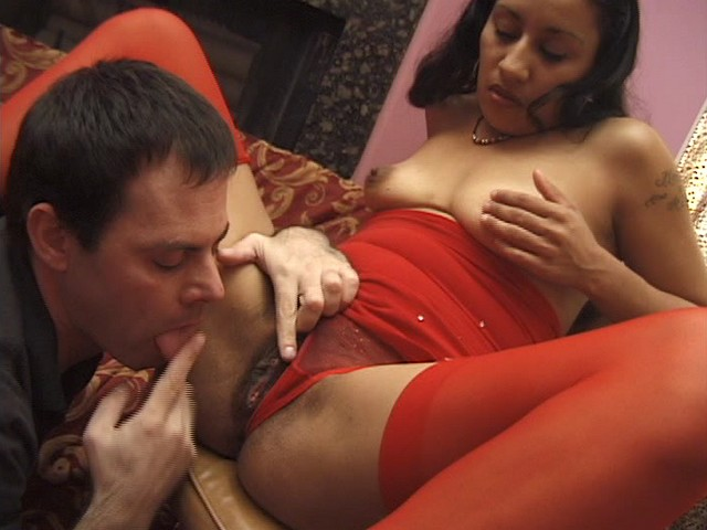 Horny Brunette with a Hot Hairy Pussy Gets